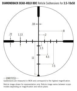DBK-03-BDC Vortex Optics Diamondback 3.5–10x50 Rifle scope with Dead-Hold BDC Reticle (MOA) 2