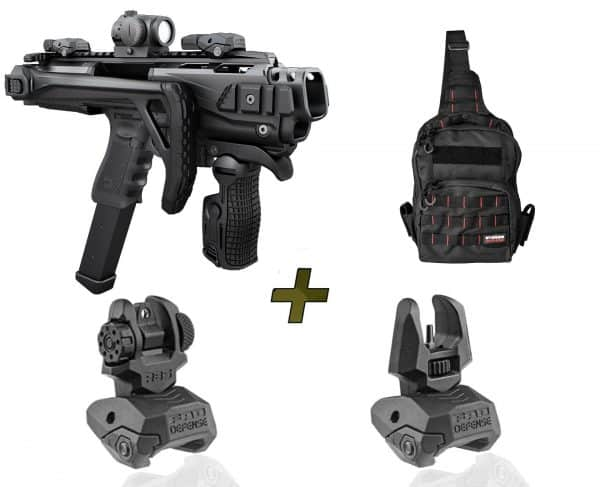 KPOS Scout PRO Kit Fab Defense PDW Conversion Kit For Glock 17, 19, 19X,  22, 23, 25, 31, 32, 45 Gen 3, 4, 5