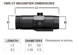 VMX-3T Vortex Optics Magnifier with Flip Mount (37mm | 40 mm Heights) 1