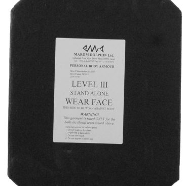 Ceramic Plate Protection Level IV (4) Stand alone 1