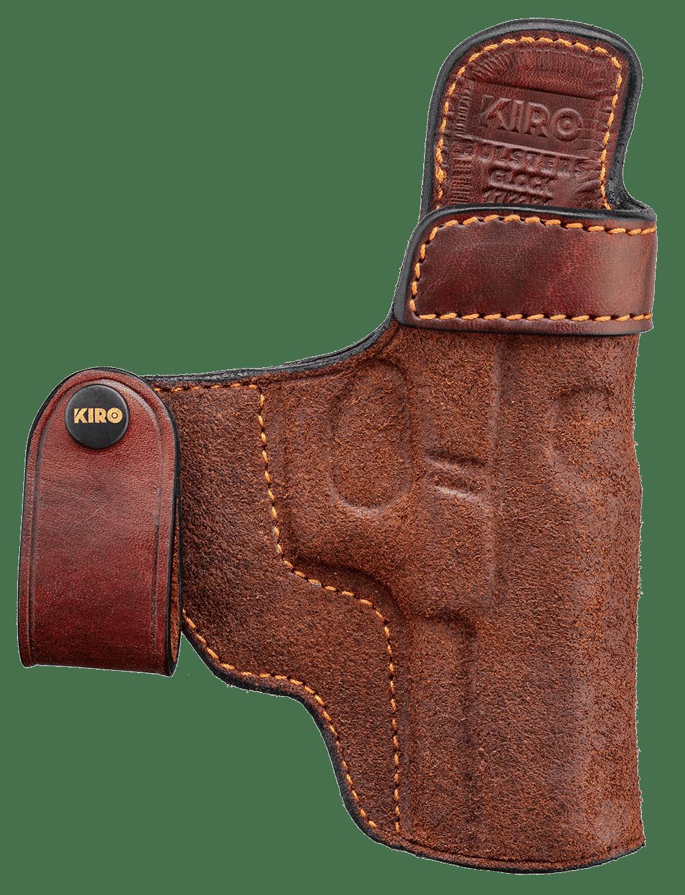 """KIRO """"Reholster IWB"""" Concealed Handmade Leather Holster 1"""