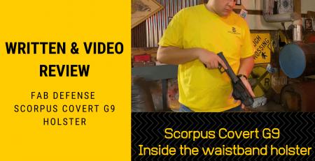 Written & Video Review Scorpus Covert G9 Inside the waistband holster