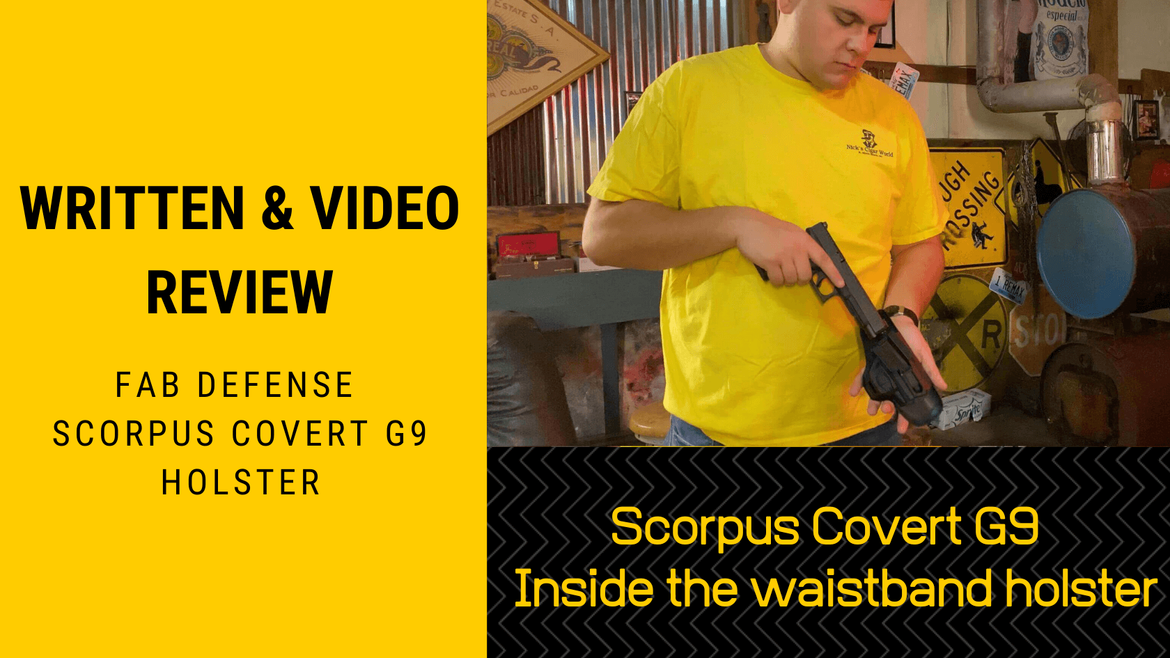 Written & Video Review Scorpus Covert G9 Inside the waistband holster
