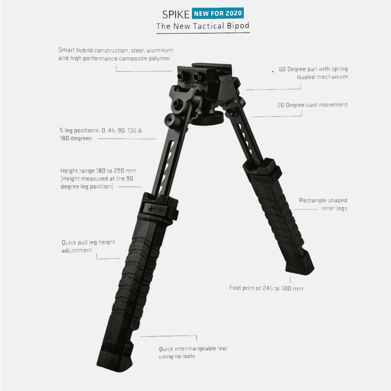 Top Ten Fab Pictures: FAB Defense Spike Tactical Bipod With 5 Leg Positions Best