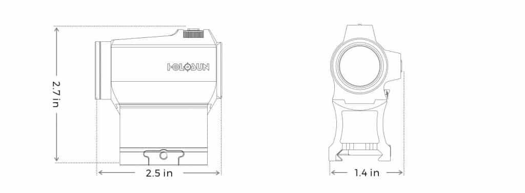 Holosun HS503CU Red Dot / Circle Dot Reflex Sight With Solar Panel 1