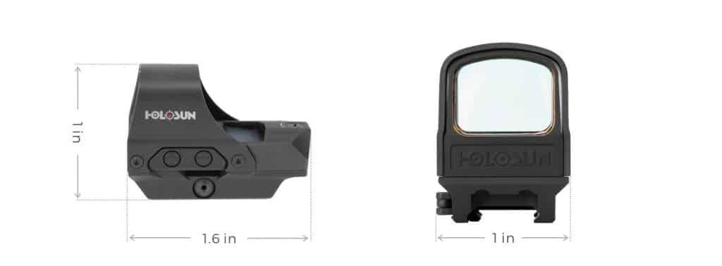 Holosun HS510C Red Dot  / Circle Dot Reflex Sight with Solar Panel and QD Mount 1