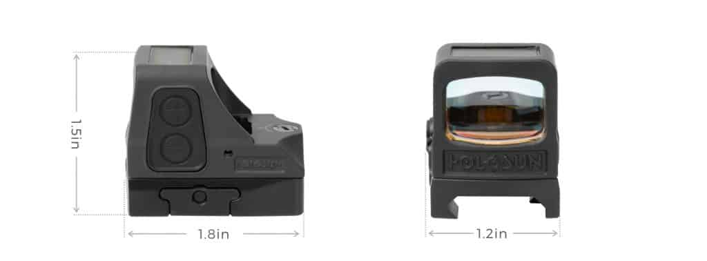 Holosun HE508T-RD V2 Red Dot / Circle Dot Reflex Sight With Solar Panel and Titanium 1