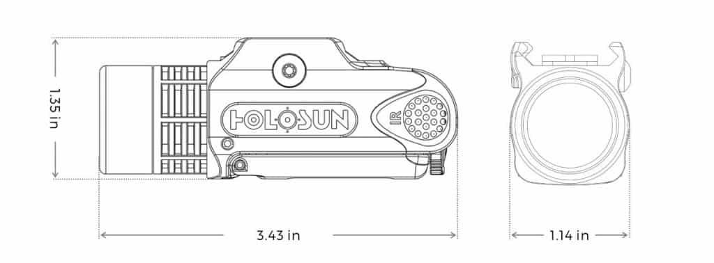 Holosun LP300 Flashlight 1