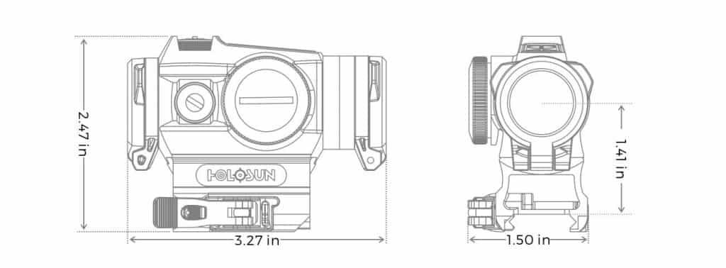 Holosun HE515GT-RD Red Dot / Circle Dot Micro Sight With QD and Titanium 1