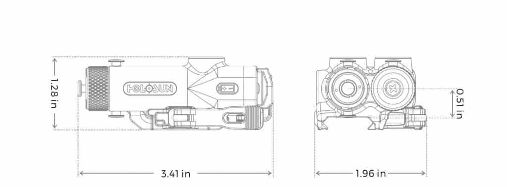 Holosun LE117-IR Colimated Laser Sight with Titanium 1