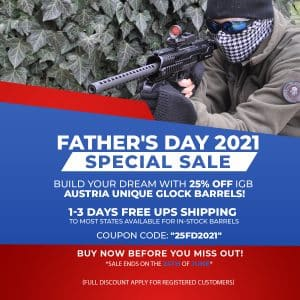 FATHERS DAY IGB BARRELS SPECIAL SALE
