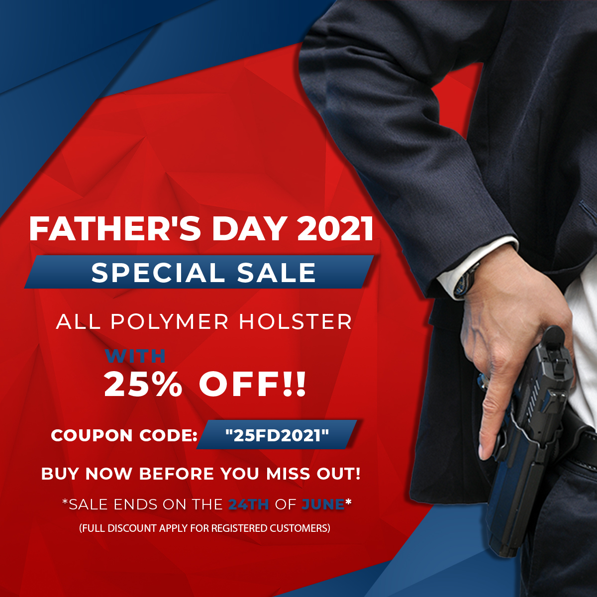 FATHERS DAY POLYMER HOLSTERS SPECIAL SALE