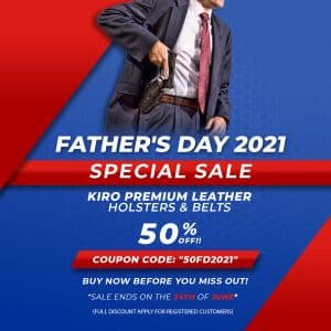 FATHERS DAY KIRO LEATHER HOLSTERS & BELTS SPECIAL SALE